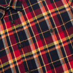 Edwin Labour Men's Shirt Red Check Garment Washed photo- 2