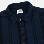 Мужская рубашка Edwin Labour Stripes Navy/Black Garment Washed фото- 1