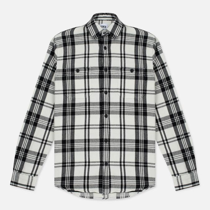 Мужская рубашка Edwin Labour Stripes White/Black Garment Washed