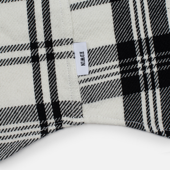 Мужская рубашка Edwin Labour Stripes White/Black Garment Washed