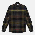 Мужская рубашка Edwin Labour Uniform Green Garment Washed фото- 0