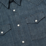 Мужская рубашка Edwin Memphis Canvas Denim Selvage Blue Rinsed фото- 2