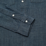 Мужская рубашка Edwin Memphis Canvas Denim Selvage Blue Rinsed фото- 3
