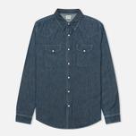 Мужская рубашка Edwin Memphis Denim Surf Blue Stone Washed фото- 0