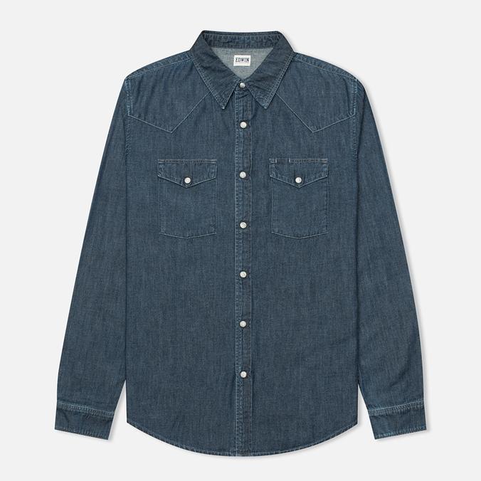 Мужская рубашка Edwin Memphis Denim Surf Blue Stone Washed