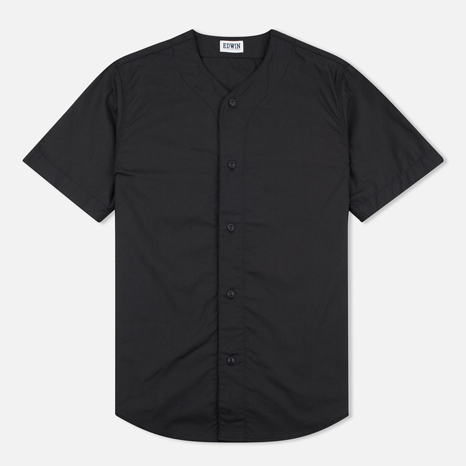 Мужская рубашка Edwin Military Poplin 3.5 Oz Black