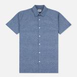 Мужская рубашка Edwin Nimes SS Poplin Blue Chambray фото- 0