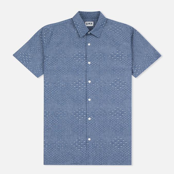 Мужская рубашка Edwin Nimes SS Poplin Blue Chambray