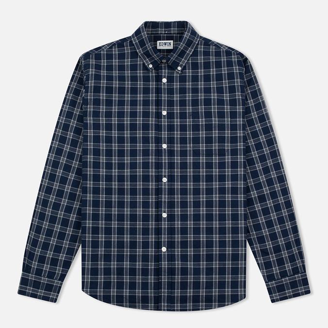 Мужская рубашка Edwin Standard Check Indigo