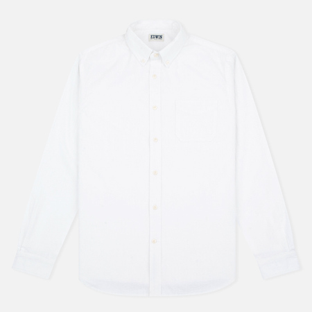 Edwin Standard French Seersucker Men's Shirt White