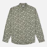 Мужская рубашка Edwin Standard Linen Flowers Printed Khaki фото- 0