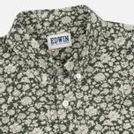 Мужская рубашка Edwin Standard Linen Flowers Printed Khaki фото- 1