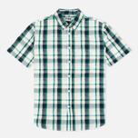 Мужская рубашка Edwin Standard SS Poplin Check Green фото- 0