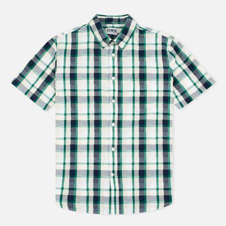Edwin Standard SS Poplin Check Men's Shirt Green