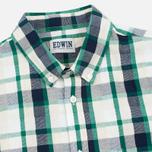 Мужская рубашка Edwin Standard SS Poplin Check Green фото- 1