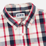 Edwin Standard SS Poplin Check Men's Shirt Red photo- 1