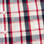 Edwin Standard SS Poplin Check Men's Shirt Red photo- 2