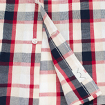Edwin Standard SS Poplin Check Men's Shirt Red photo- 3