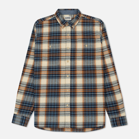 Мужская рубашка Edwin Tripple 10 Check Flanel Blue/Rust