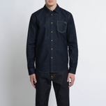 Мужская рубашка Evisu Bird Outline Denim Indigo фото- 6