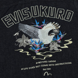 Мужская рубашка Evisu Bird Outline Denim Indigo фото- 5