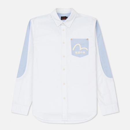 Мужская рубашка Evisu Daicock And Seagull Print Oxford White