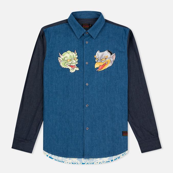 Мужская рубашка Evisu Monster Indigo