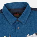 Мужская рубашка Evisu Monster Indigo фото- 1