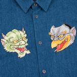 Мужская рубашка Evisu Monster Indigo фото- 2