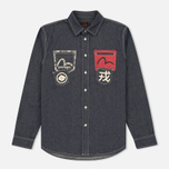 Мужская рубашка Evisu Seagull And Kanji Denim Indigo фото- 0