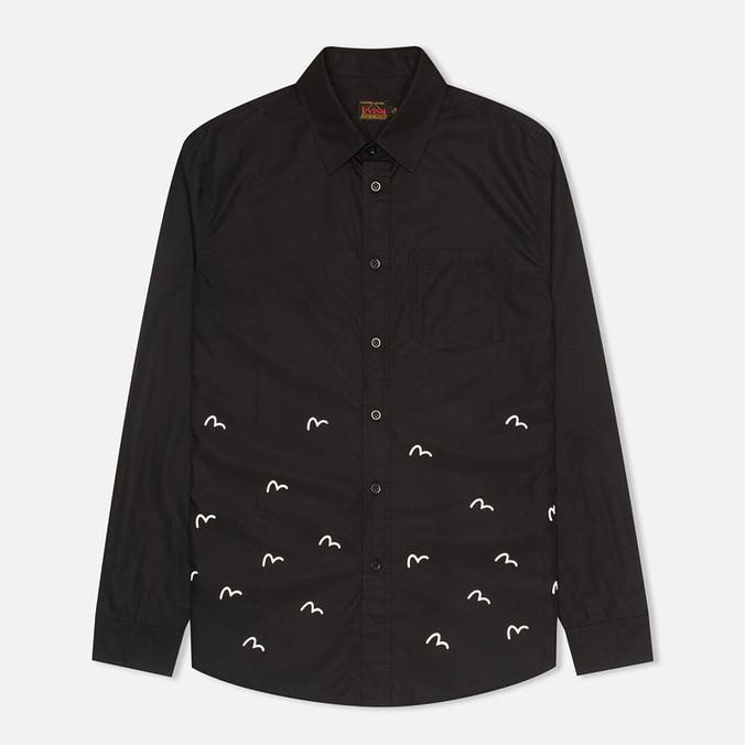 Мужская рубашка Evisu Seagull Plate Black