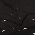Мужская рубашка Evisu Seagull Plate Black фото- 3