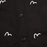 Мужская рубашка Evisu Seagull Plate Black фото- 2