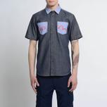 Мужская рубашка Evisu Seagull Pocket Denim Indigo фото- 6
