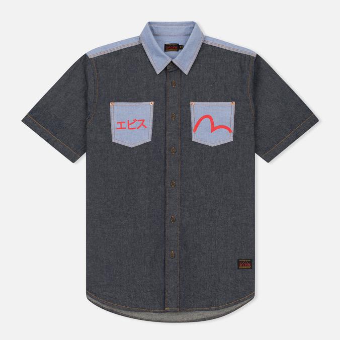 Мужская рубашка Evisu Seagull Pocket Denim Indigo