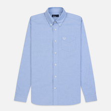Мужская рубашка Fred Perry Authentic Button Down Oxford Light Smoke фото- 0