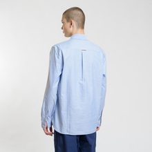 Мужская рубашка Fred Perry Authentic Button Down Oxford Light Smoke фото- 2