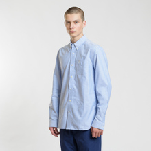 Мужская рубашка Fred Perry Authentic Button Down Oxford Light Smoke фото- 1