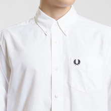 Мужская рубашка Fred Perry Authentic Button Down Oxford White фото- 3