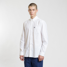 Мужская рубашка Fred Perry Authentic Button Down Oxford White фото- 1