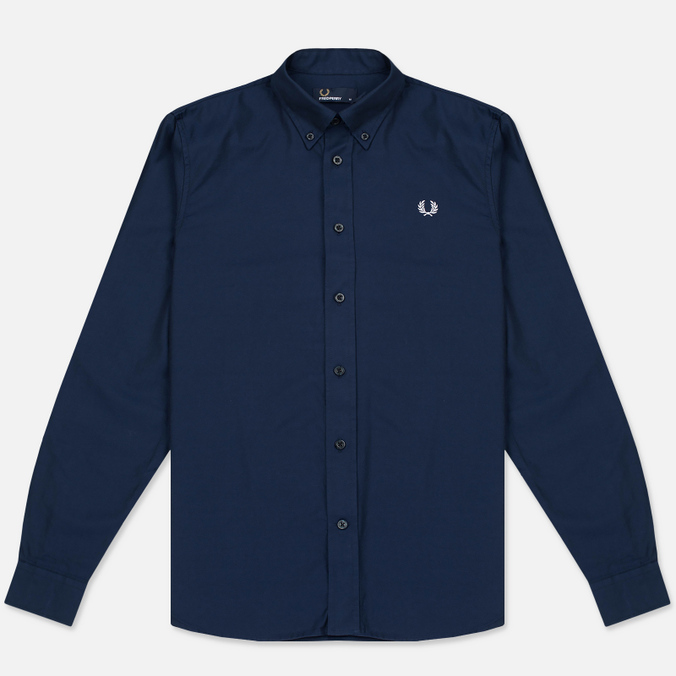 Мужская рубашка Fred Perry Classic Cotton Twill Navy
