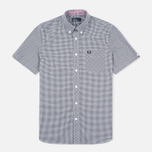 Мужская рубашка Fred Perry Classic SS Gingham Black фото- 0