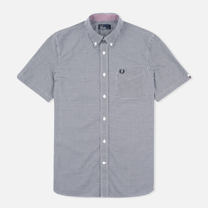 Мужская рубашка Fred Perry Classic SS Gingham Black