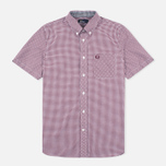 Fred Perry Classic Gingham SS Men's Shirt Mahogany photo- 0
