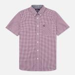 Мужская рубашка Fred Perry Classic SS Gingham Mahogany фото- 0