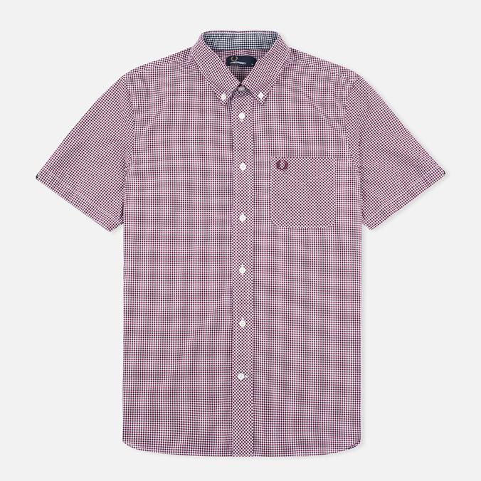 Мужская рубашка Fred Perry Classic SS Gingham Mahogany