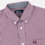 Мужская рубашка Fred Perry Classic SS Gingham Mahogany фото- 1
