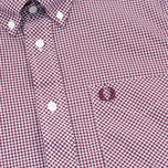 Fred Perry Classic Gingham SS Men's Shirt Mahogany photo- 2