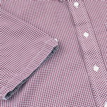 Fred Perry Classic Gingham SS Men's Shirt Mahogany photo- 3