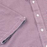 Мужская рубашка Fred Perry Classic SS Gingham Mahogany фото- 3